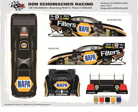 Auto Racing Sprint Cars on Don Schumacher Racing    News    Capps  Napa Auto Parts Funny Car To