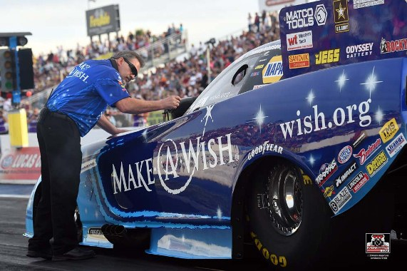 Make-A-Wish team has fast Funny Car